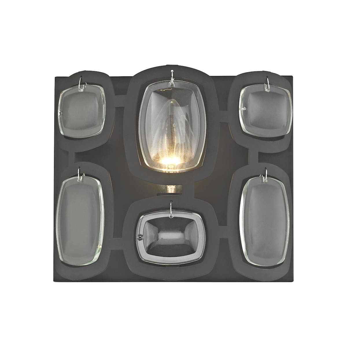 Monserrat 1 Light Vanity in Oil Rubbed Bronze with Clear Glass