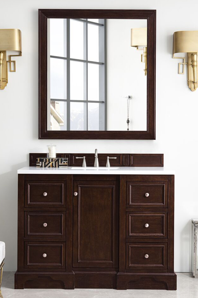 "James Martin De Soto Collection 48"" Single Vanity, Burnished Mahogany"