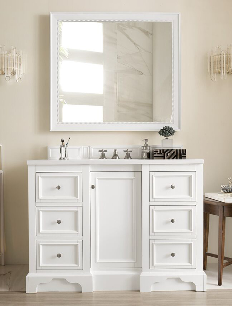 "James Martin De Soto Collection 48"" Single Vanity, Bright White"