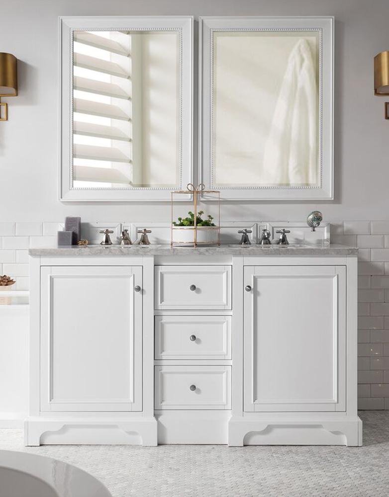 "James Martin De Soto Collection 60"" Double Vanity, Bright White"