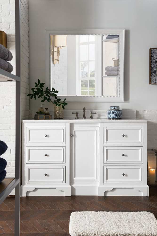 "James Martin De Soto Collection 60"" Single Vanity, Bright White"