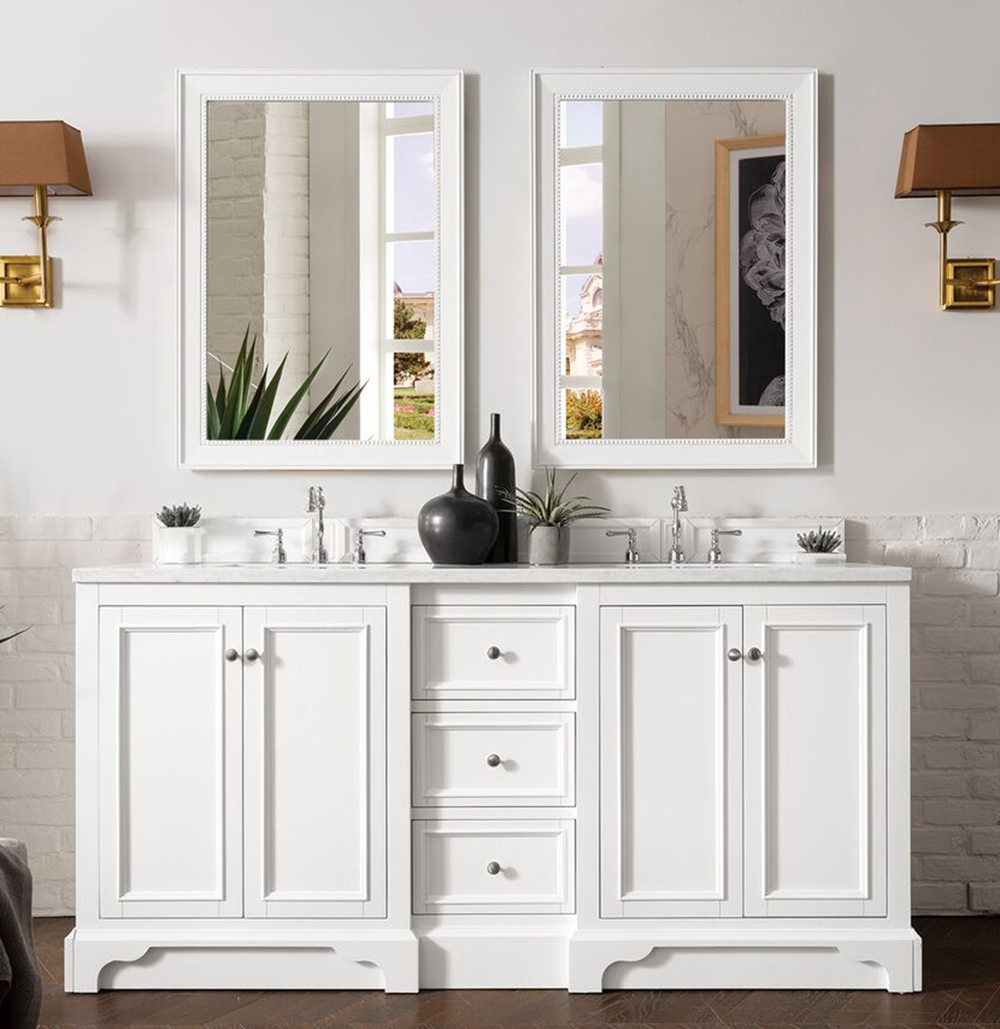 "James Martin De Soto Collection 72"" Double Vanity, Bright White"