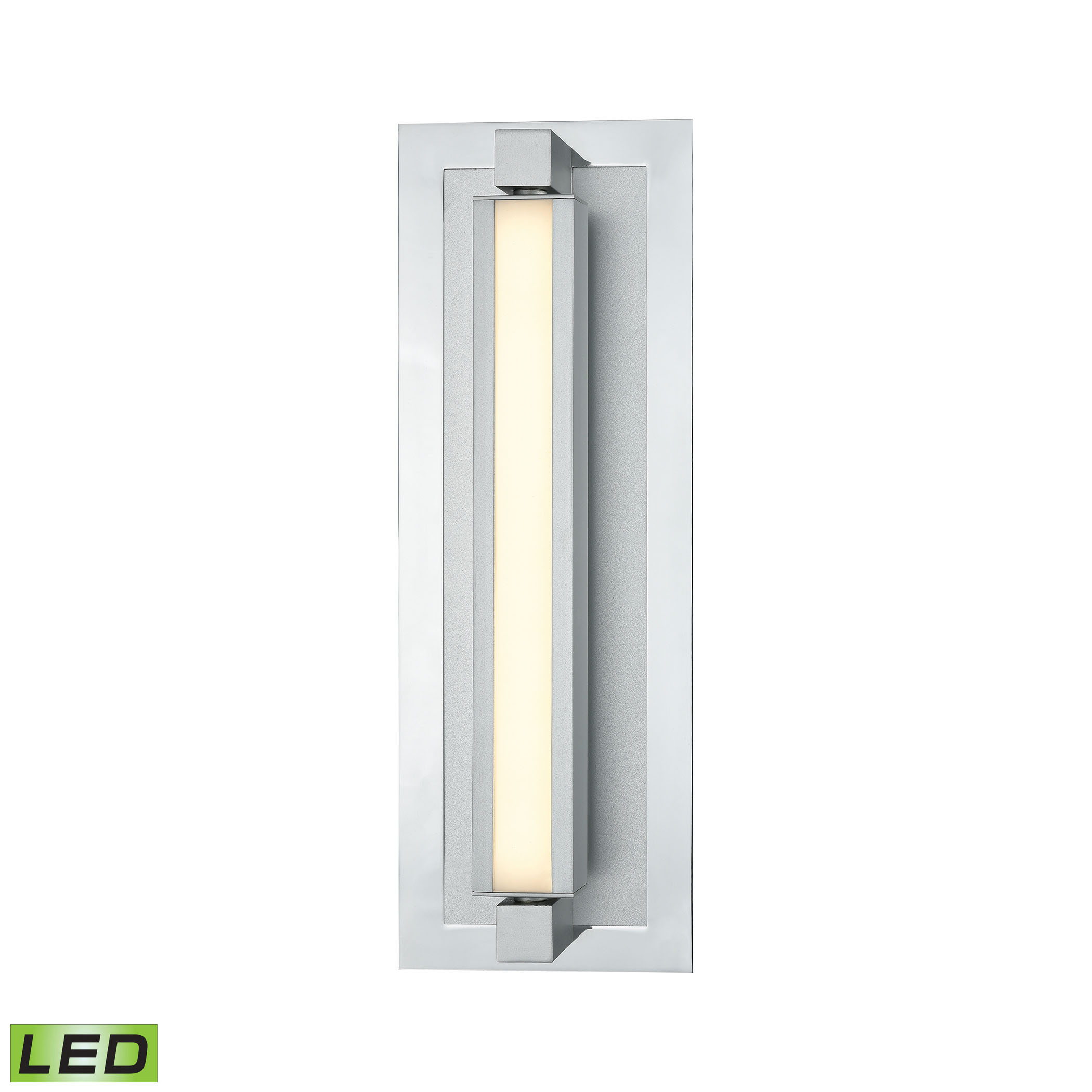 Kiara Vanity Frosted and Polished Nickel or Satin Aluminum - 1200 Lumens