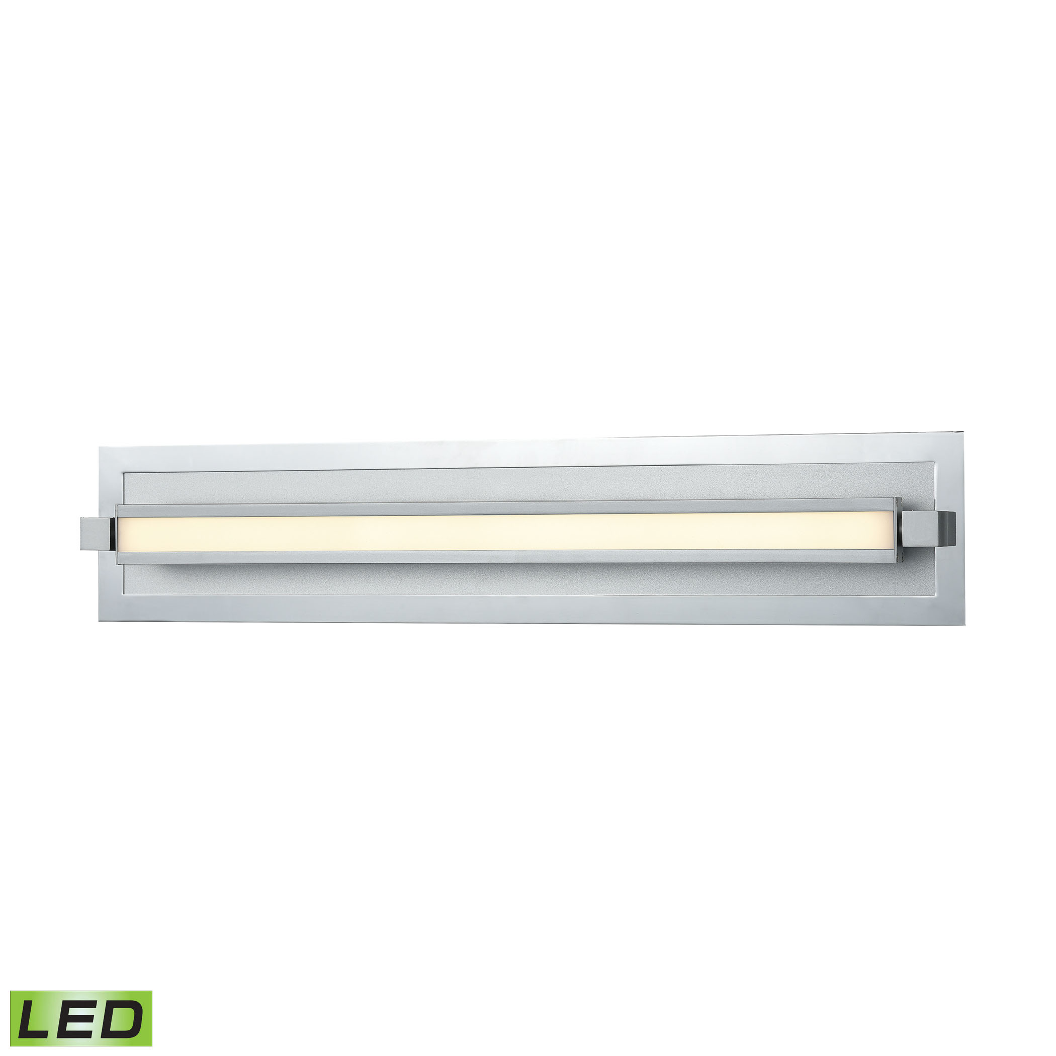 Kiara Vanity Frosted and Polished Nickel or Satin Aluminum - 2400 Lumens