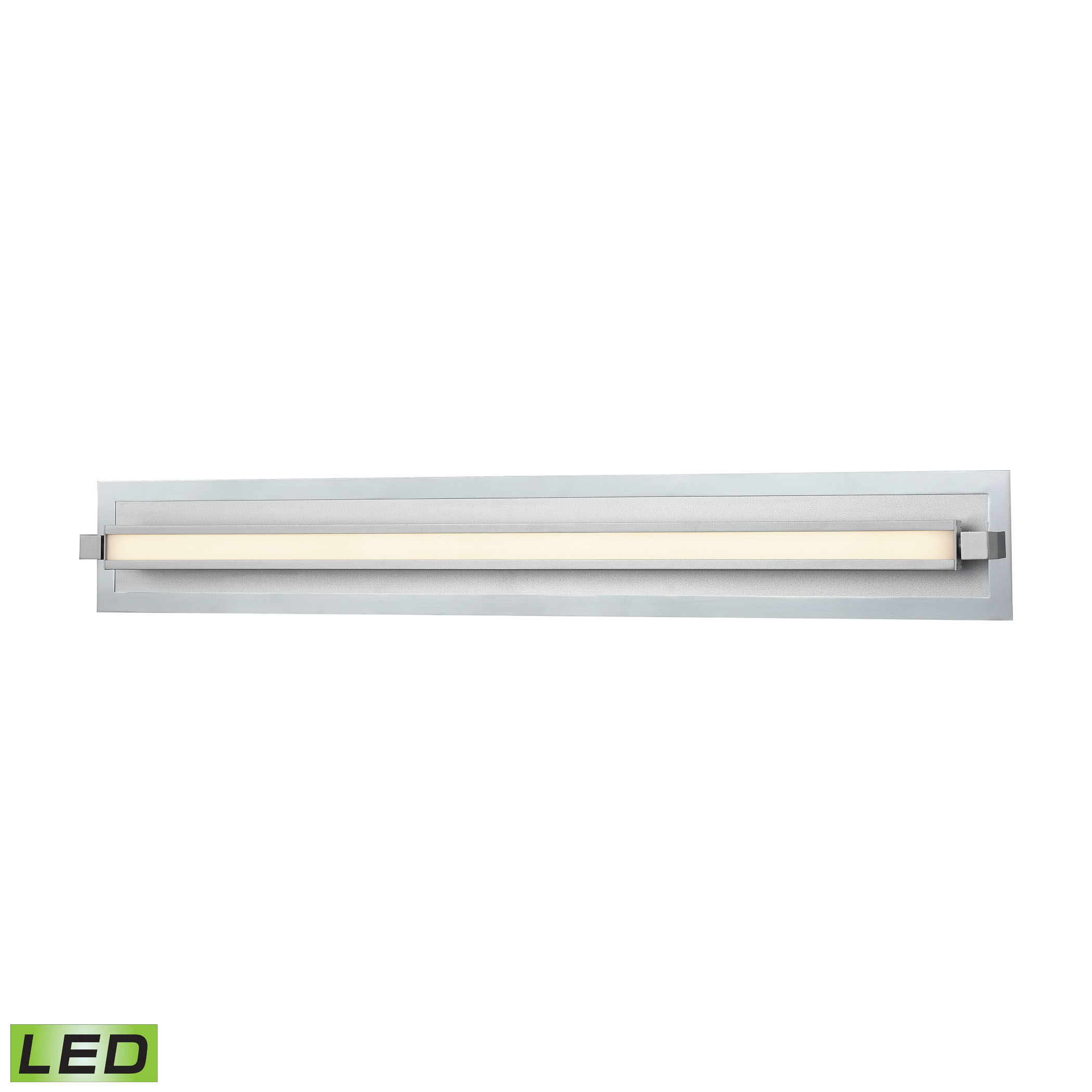 Kiara Vanity Frosted and Polished Nickel or Satin Aluminum - 3600 Lumens
