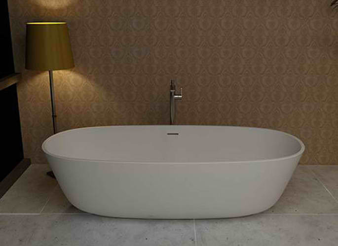 Whirlpools 32 x 71 Artificial Stone Freestanding Bathtub