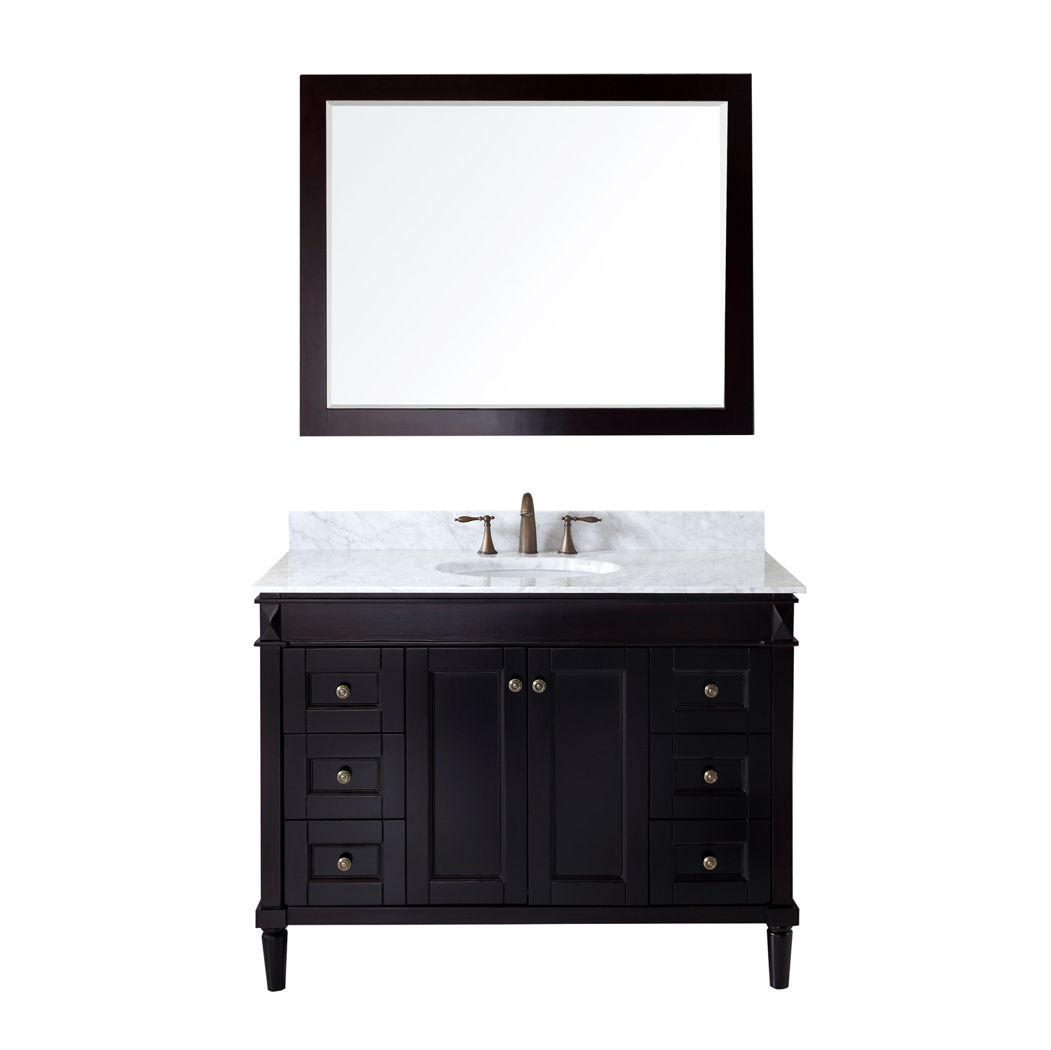 "48"" Cabinet Only in Espresso with Top, Sink and Mirror Options"