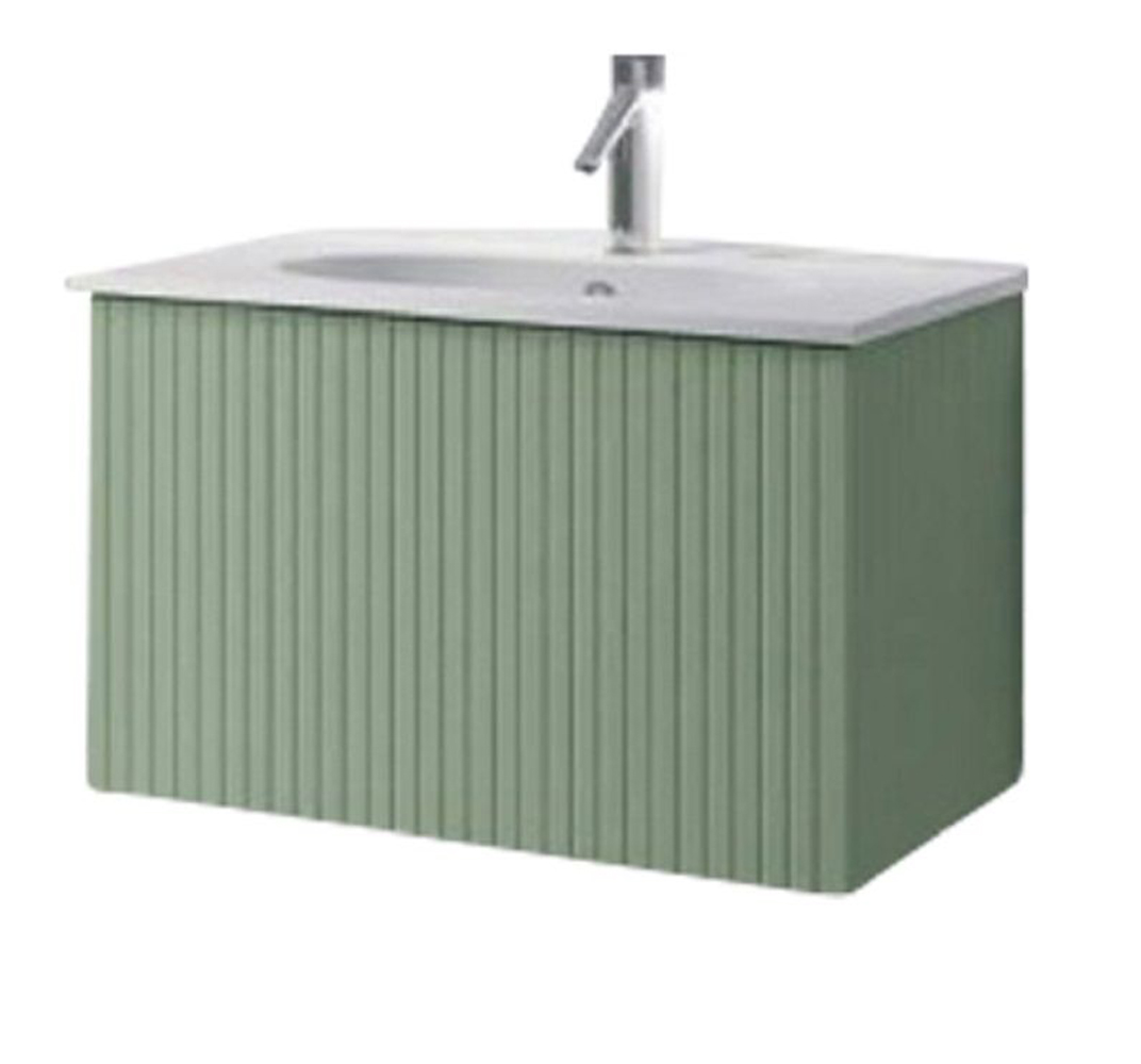 "24"" Lime Finish Wall Mount Bath Vanity with Linen Cabinet Option Made in Spain"