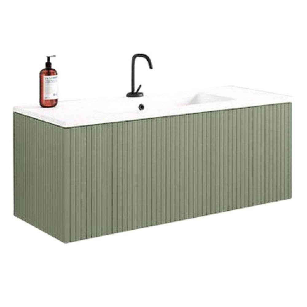 "40"" Lime Finish Wall Mount Bath Vanity with Linen Cabinet Option Made in Spain"