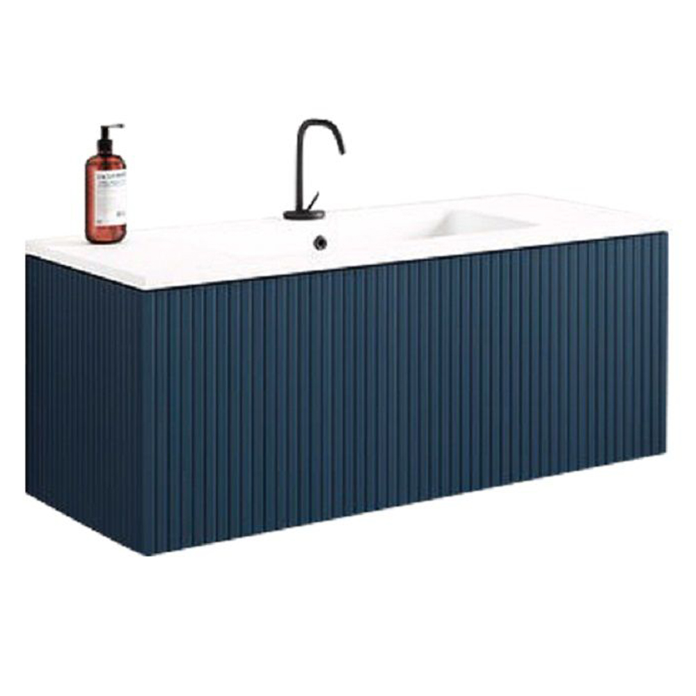 "40"" Royal Blue Finish Wall Mount Bath Vanity with Linen Cabinet Option Made in Spain"