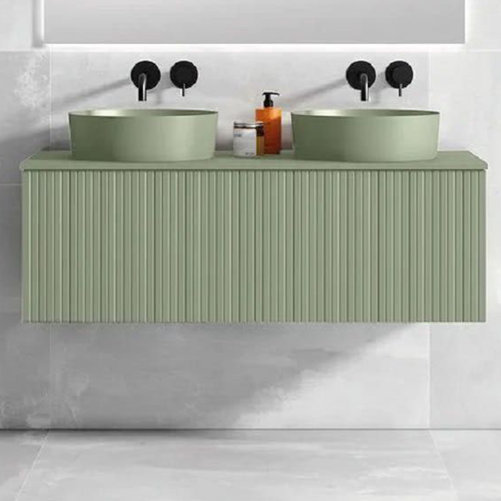 "48"" Lime Wall Mount Bath Vanity with Linen Cabinet Option Made in Spain"