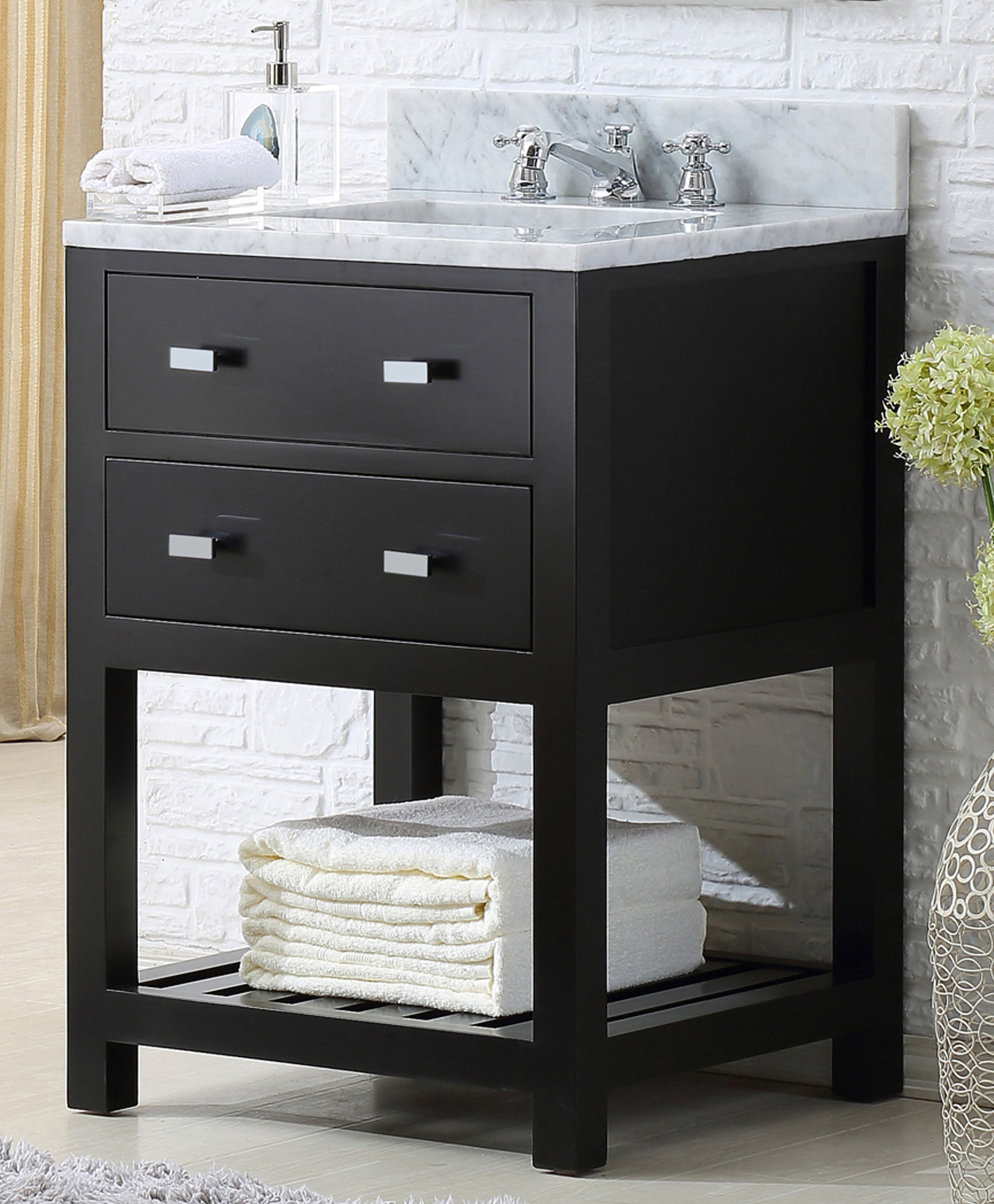 """24"""" Espresso Single Sink Bathroom Vanity"""