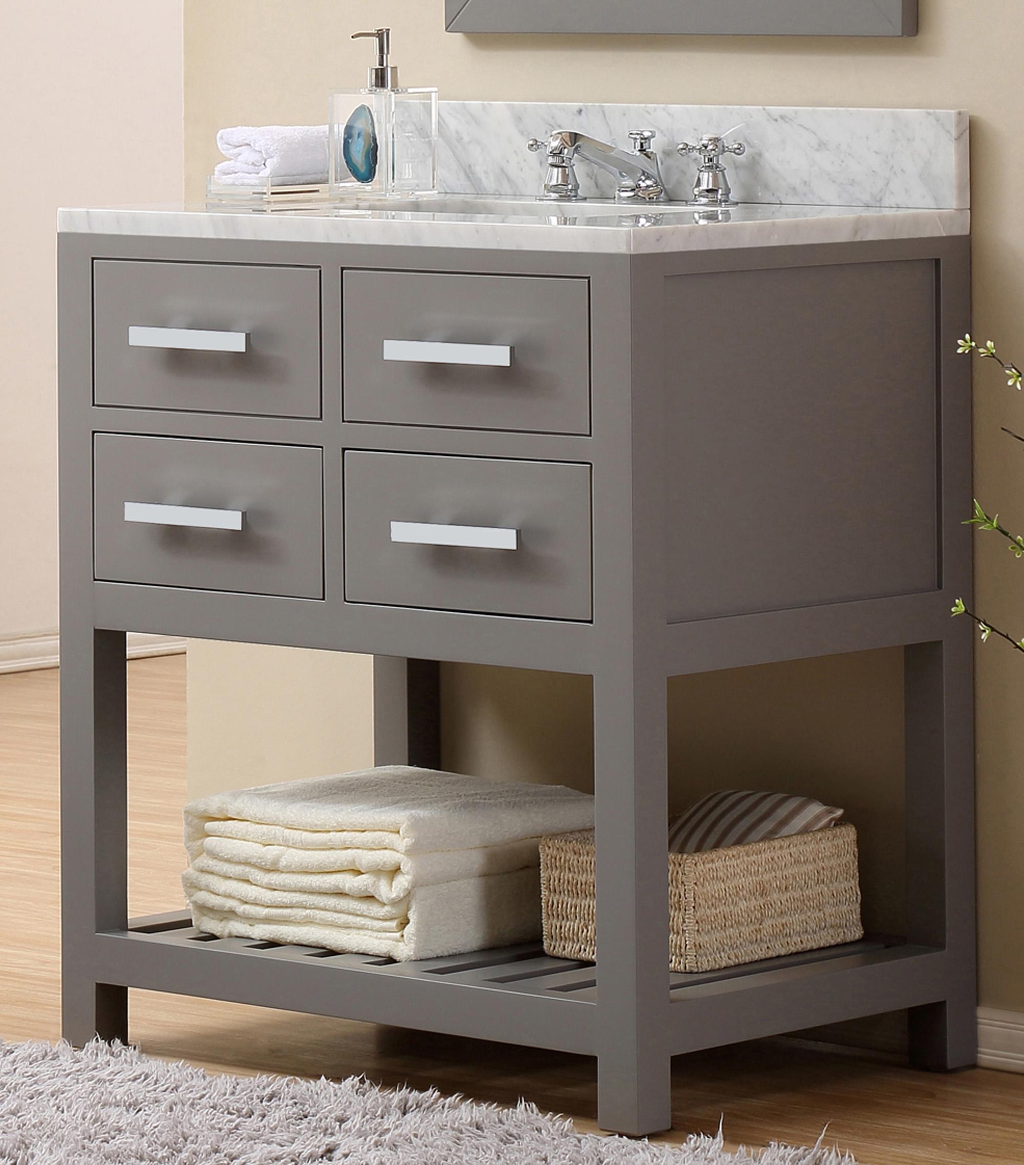 "30"" Cashmere Grey Single Sink Bathroom Vanity"