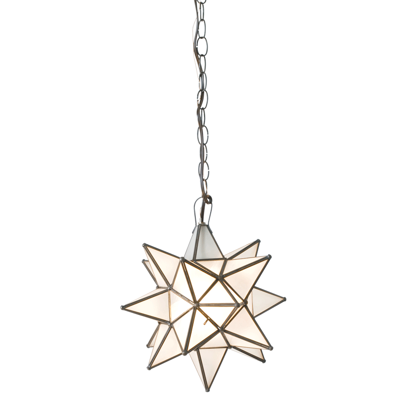 Frosted Star Chandelier with Size Option