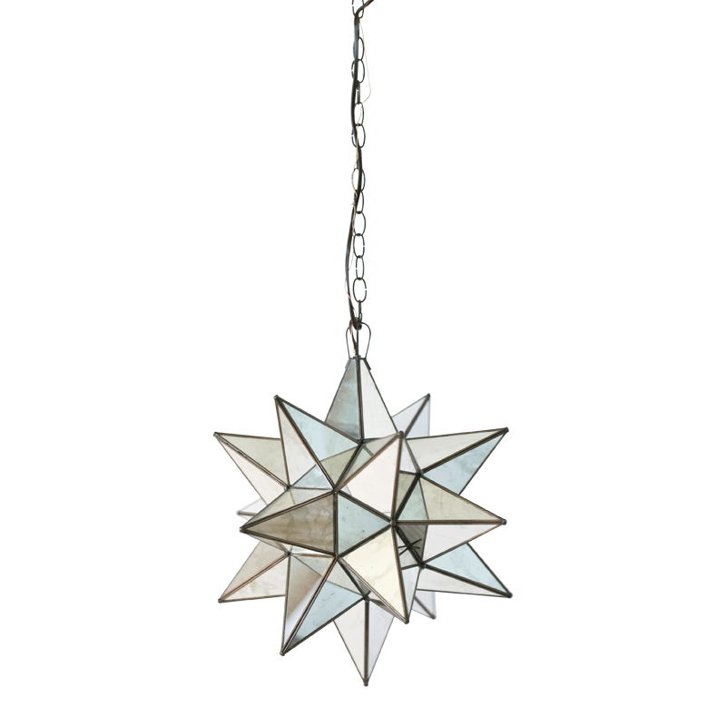 Star Chandelier with Antique Mirror - Size Option