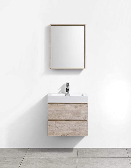 """Modern Lux 24"""" Nature Wood Wall Mount Modern Bathroom Vanity"""