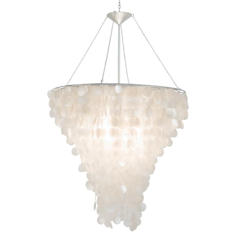 "30"" Diameter Capiz Shell Chandelier"