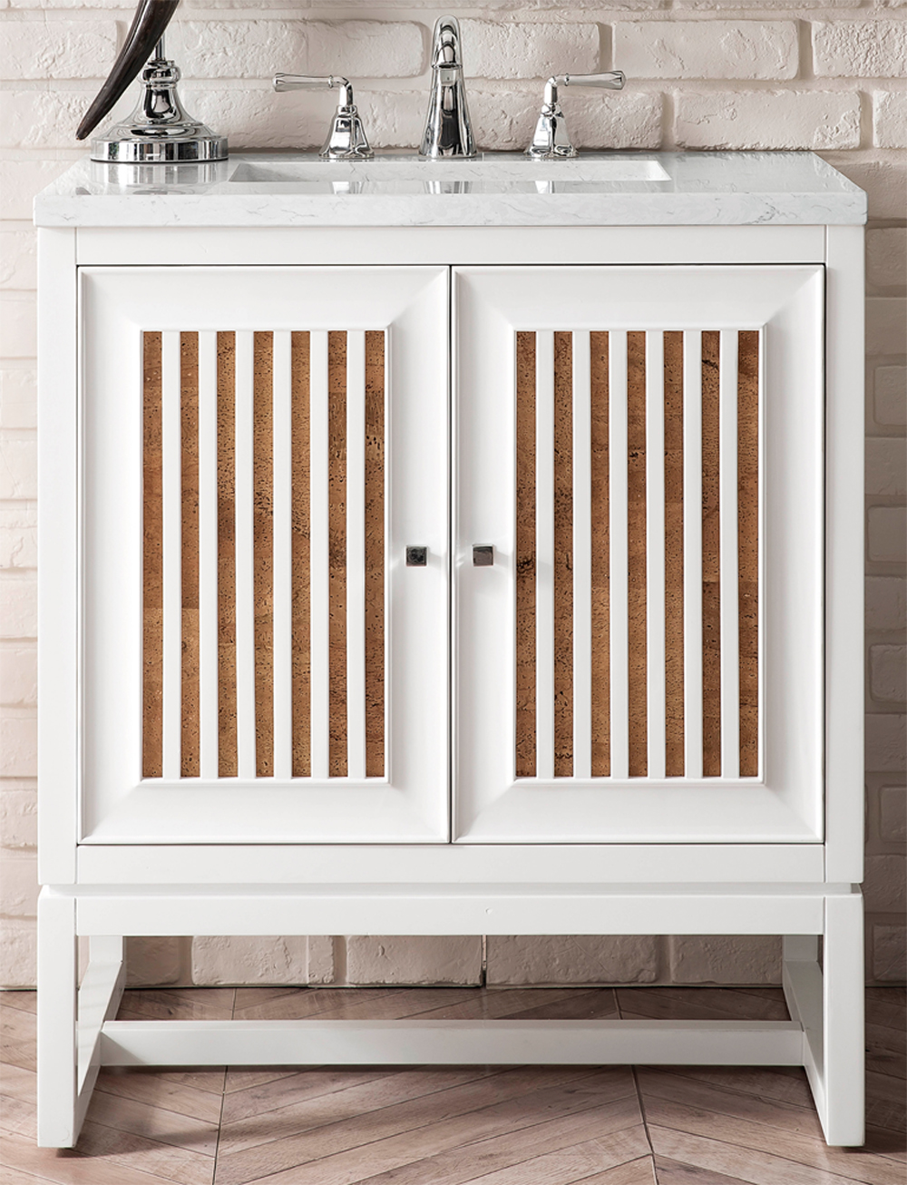 "James Martin Athens Collection 30"" Single Vanity Cabinet, Glossy White"