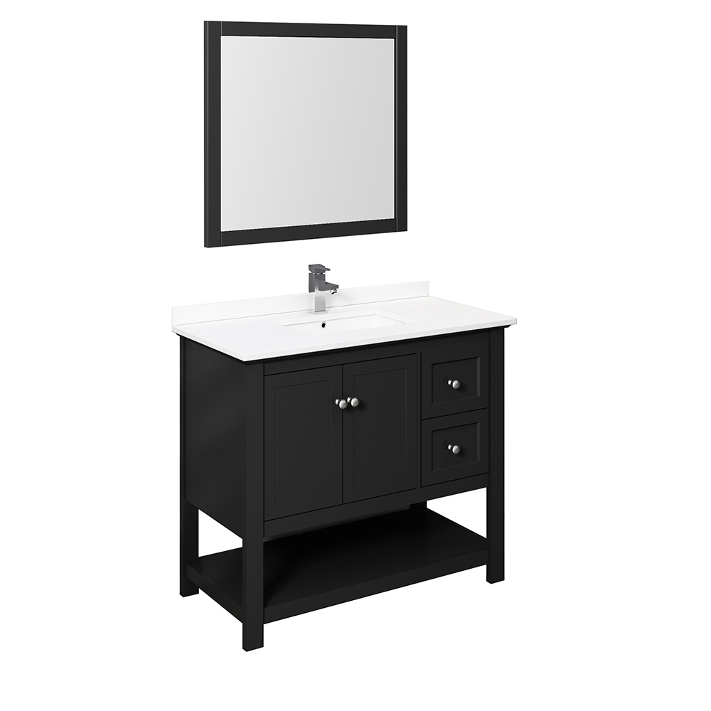 "Fresca Manchester 40"" Traditional Bathroom Vanity with Mirror and Color Options"
