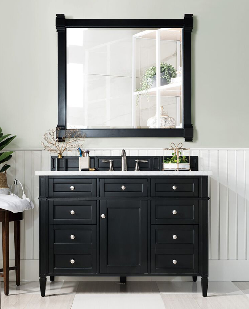 "James Martin Brittany Collection 48"" Single Vanity, Black Onyx"
