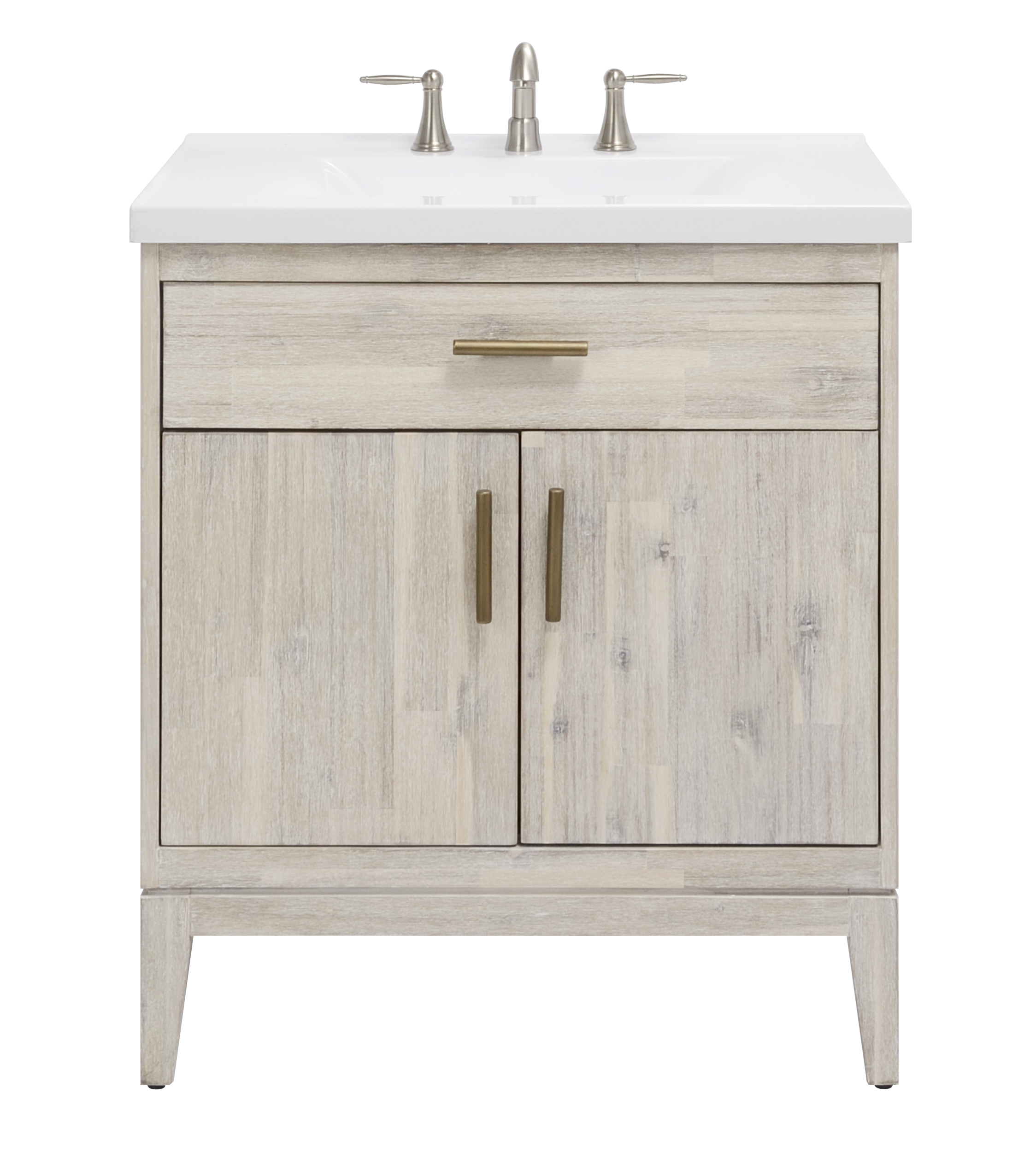 "30"" Bathroom Vanity Base, Chalky White Finish"