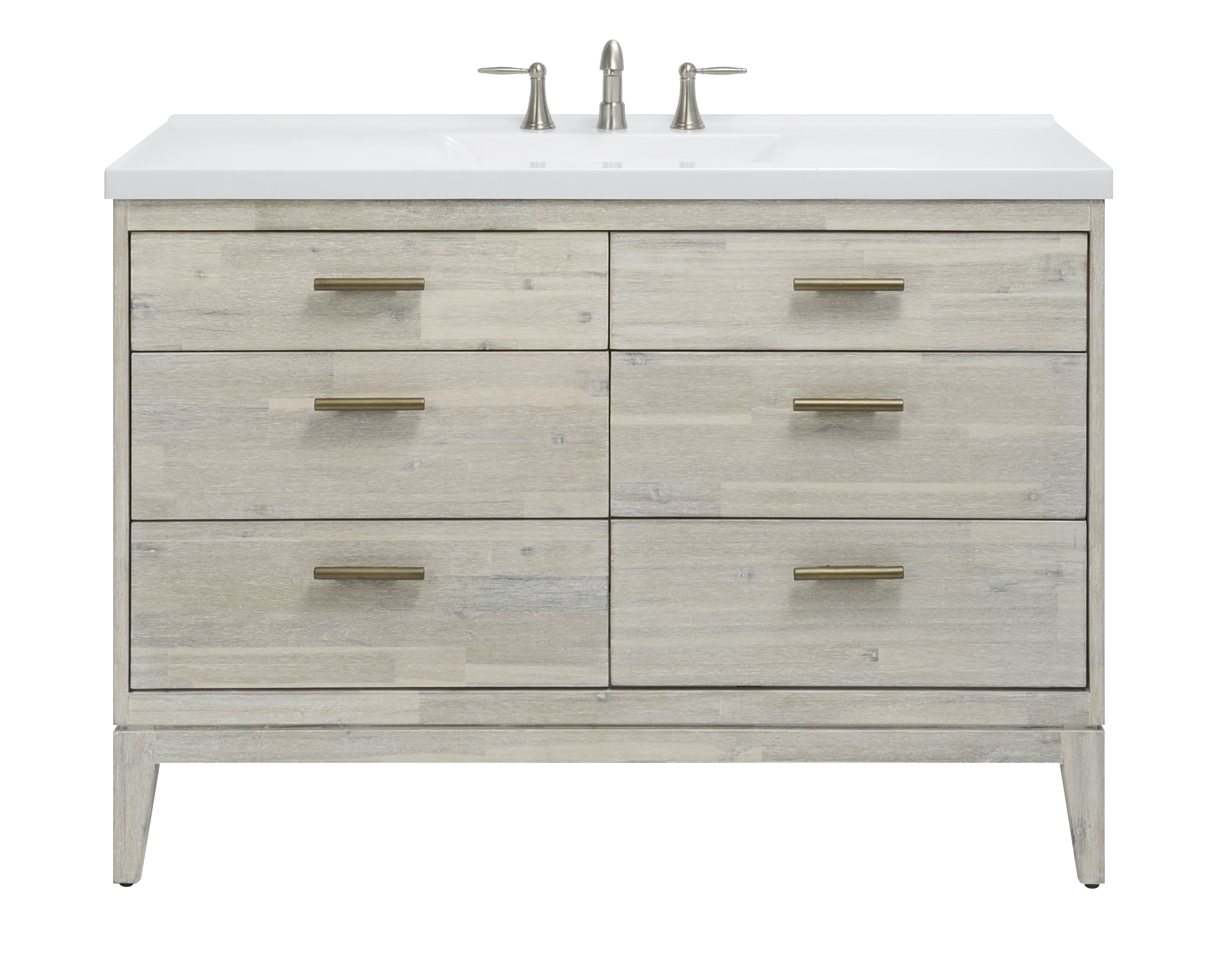 "48"" Bathroom Vanity Base, Chalky White Finish"