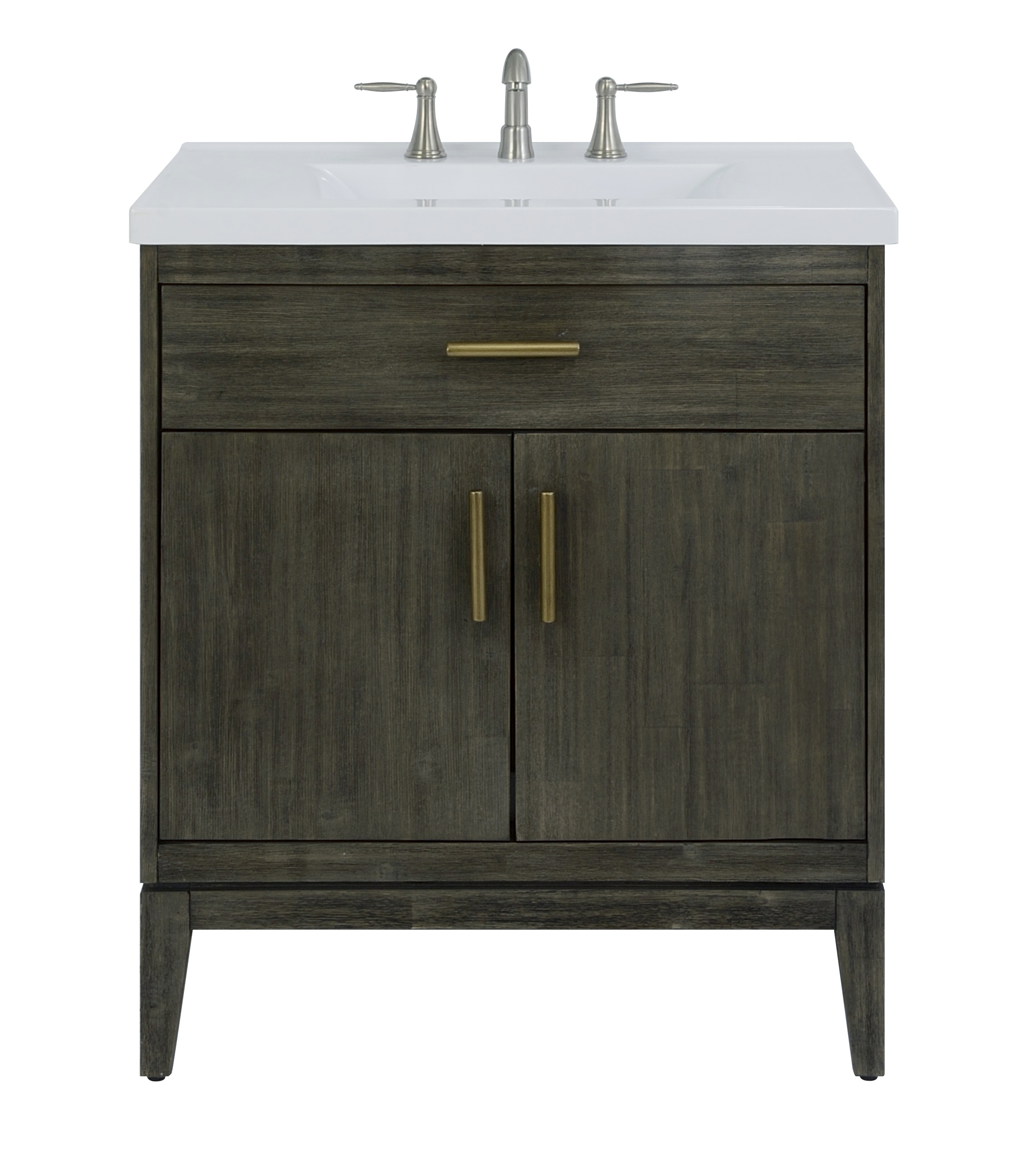 "30"" Bathroom Vanity Base, Dark Pearl Finish"