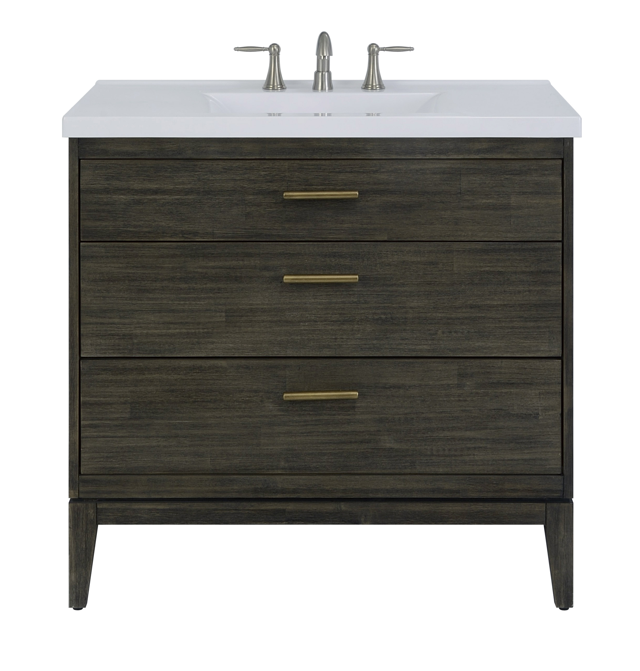 "36"" Bathroom Vanity Base, Dark Pearl Finish"