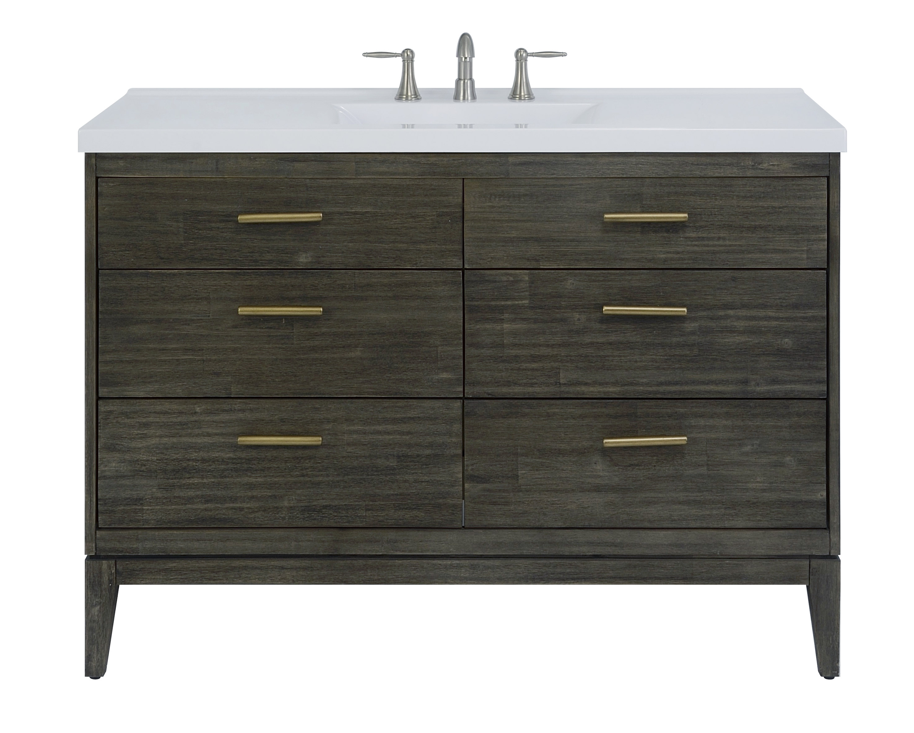 "48"" Bathroom Vanity Base, Dark Pearl Finish"