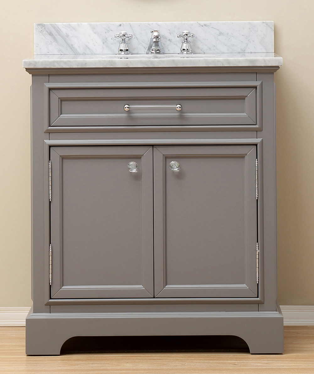 "88"" Double Sink Vanity Set with Trough Style Sinks, Carrara Marble Top"