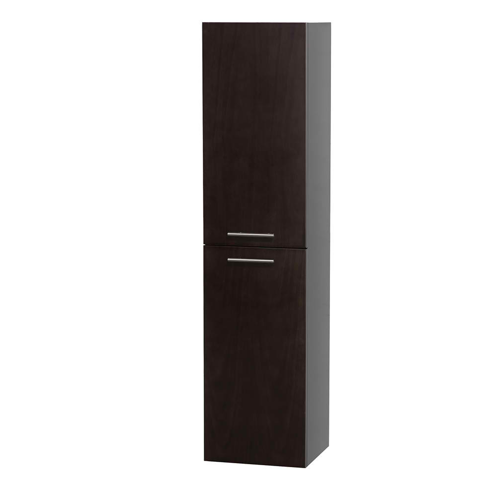 Bathroom Wall-Mounted Storage Cabinet in Espresso (Two-Door)