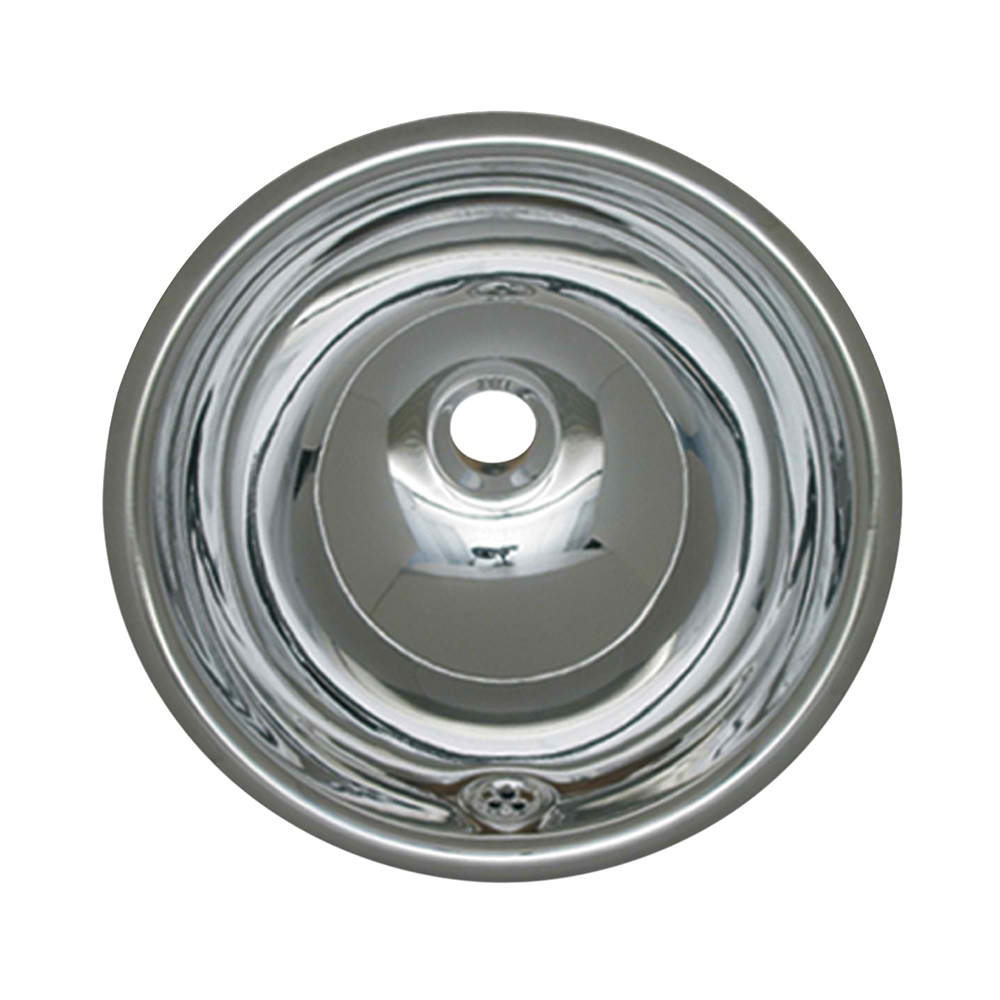 "Decorative Smooth Round Drop-in Basin with Overflow and a 1 1/4"" Center Drain"