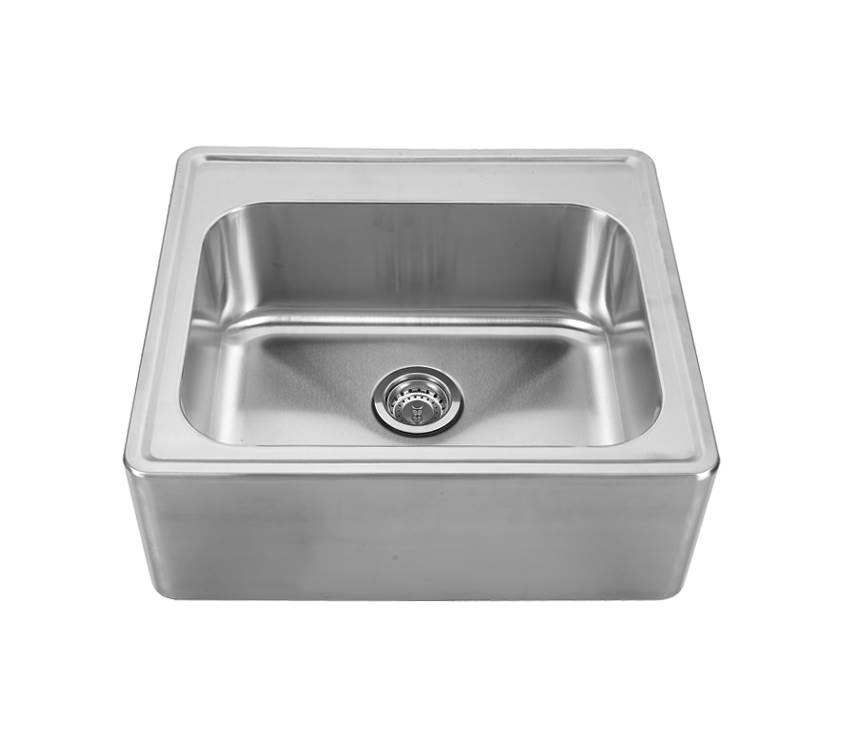 Noah's Stainless Steel Single Bowl Drop-In Sink with Seamless Front Apron