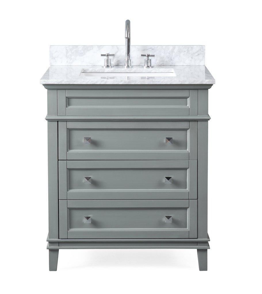 "Modern Style 30"" Gray Bathroom Vanity"