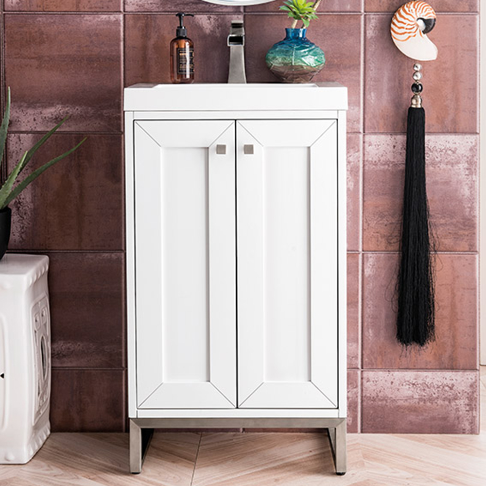 "James Martin Chianti Collection 20"" Single Vanity Cabinet, Glossy White"