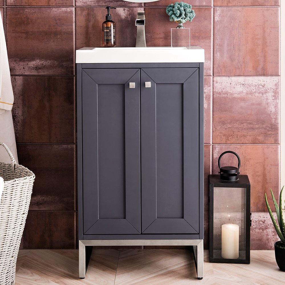 "James Martin Chianti Collection 20"" Single Vanity Cabinet, Mineral Grey"