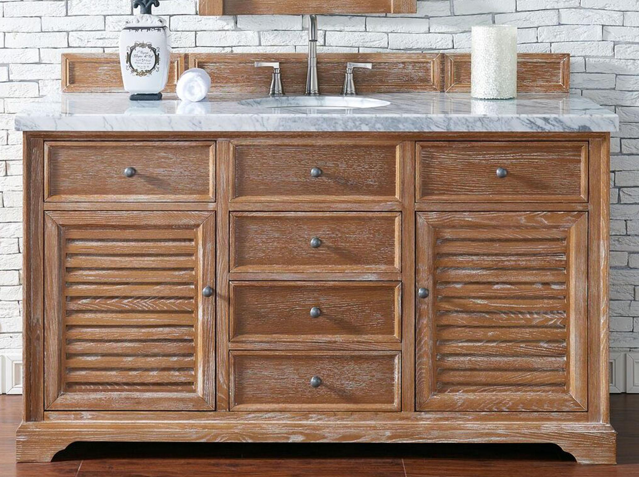 "James Martin Savannah Collection 60"" Driftwood Single Vanity Cabinet"