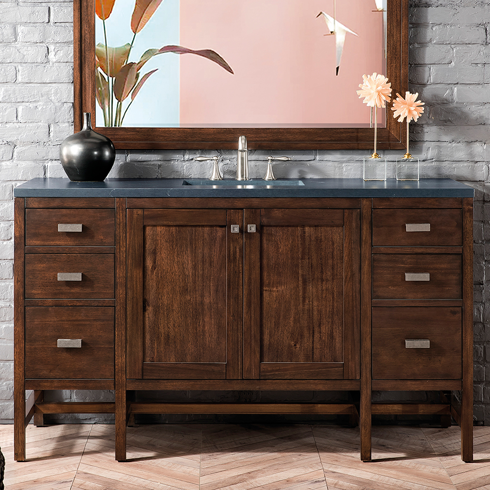 "James Martin Addison Collection 60"" Single Vanity Cabinet, Mid Century Acacia"