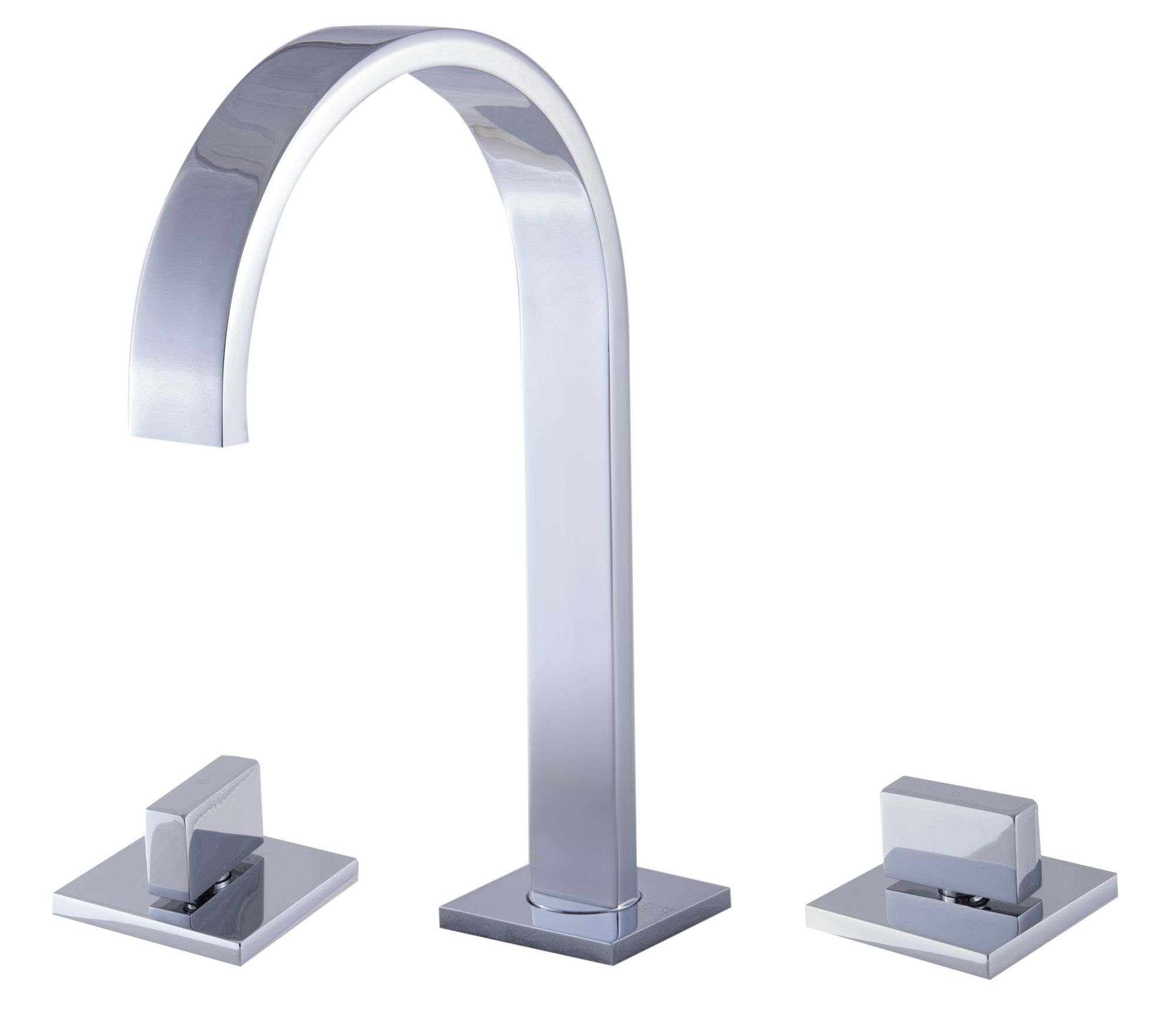 ALFI Brand AB1336 Brushed Nickel or Polished Chrome Gooseneck Widespread Bathroom Faucet