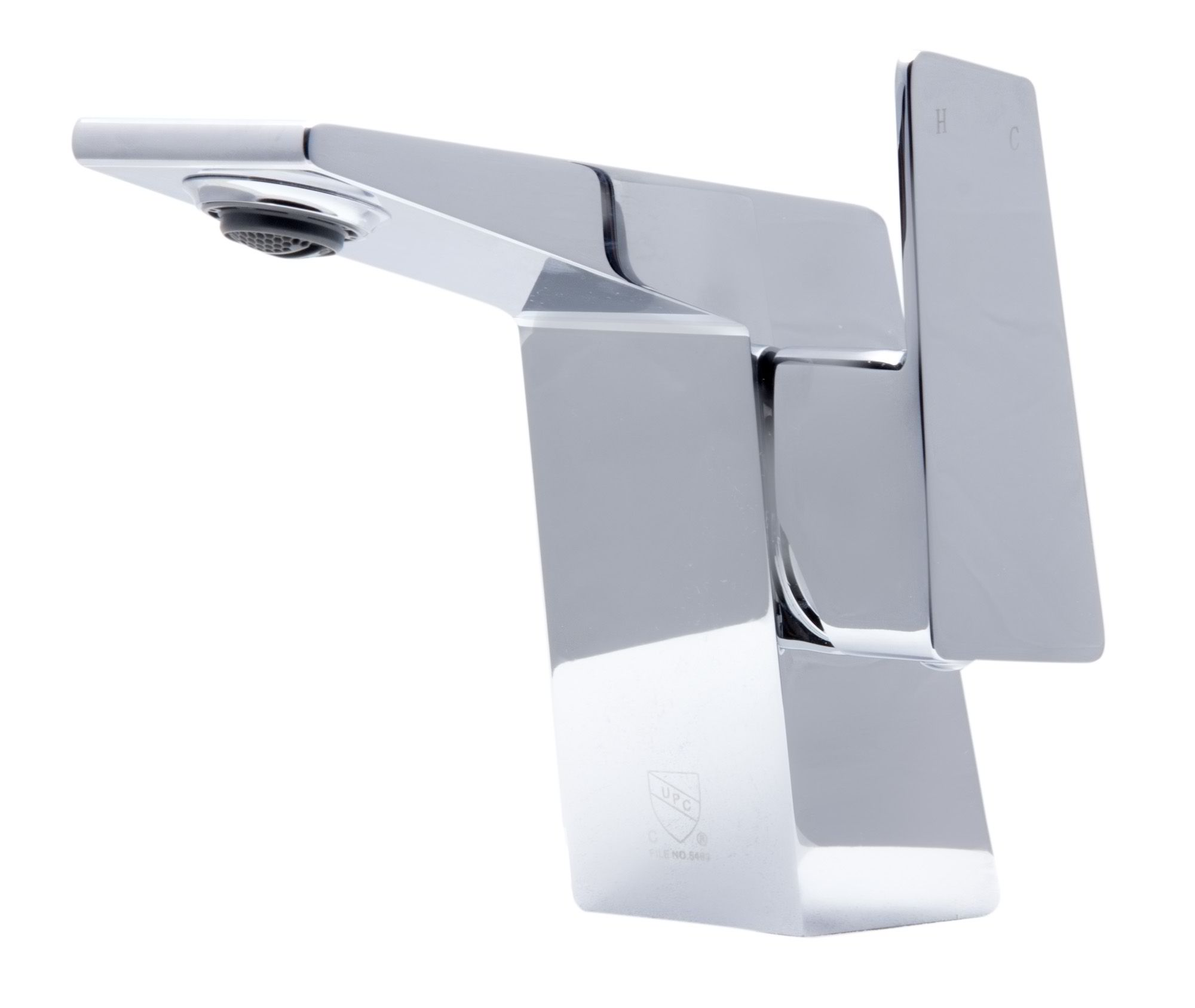 ALFI Brand AB1470 Brushed Nickel or Polished Chrome Modern Single Hole Bathroom Faucet