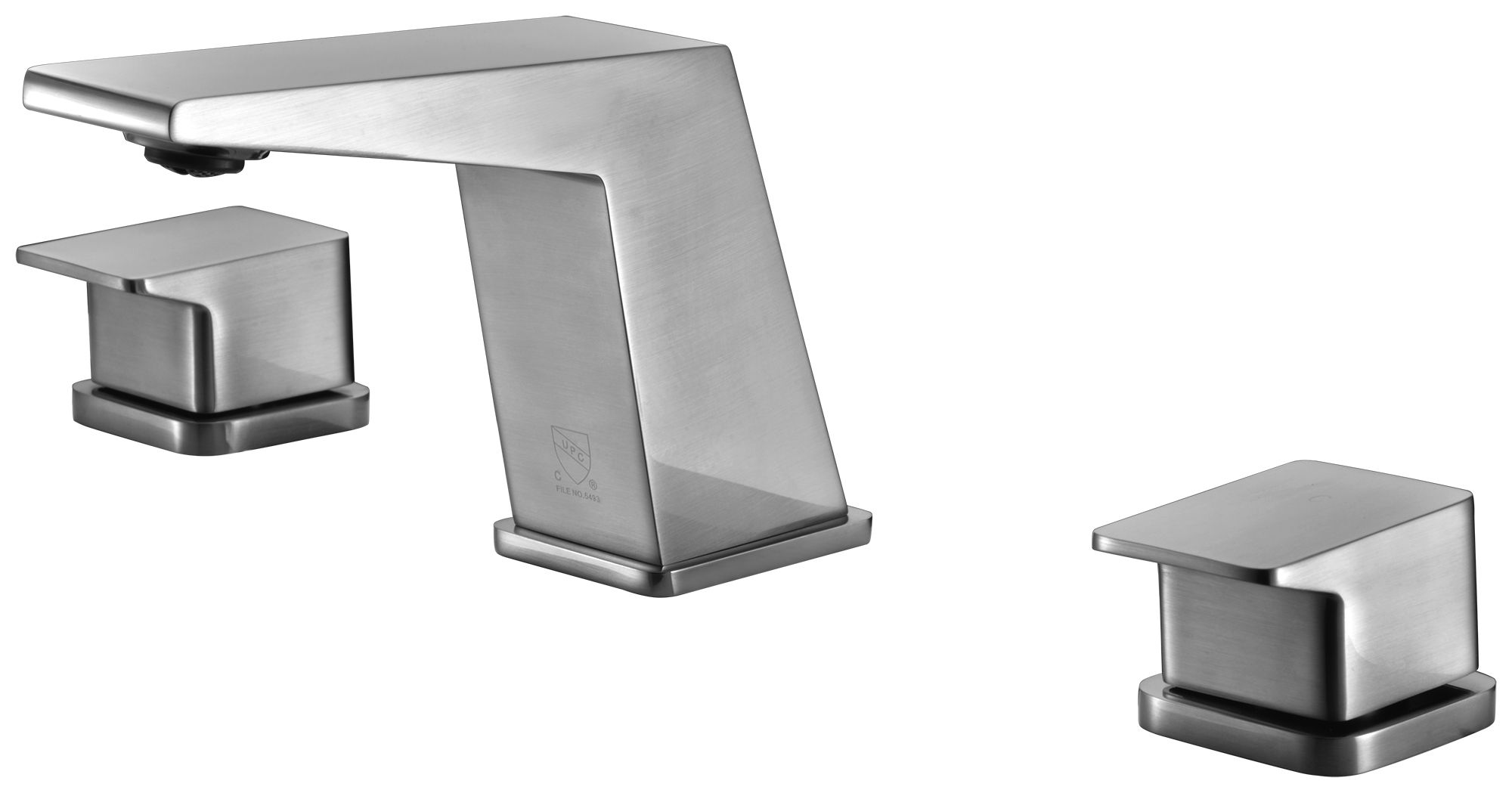 ALFI Brand AB1471 Brushed Nickel or Polished Chrome Modern Widespread Bathroom Faucet