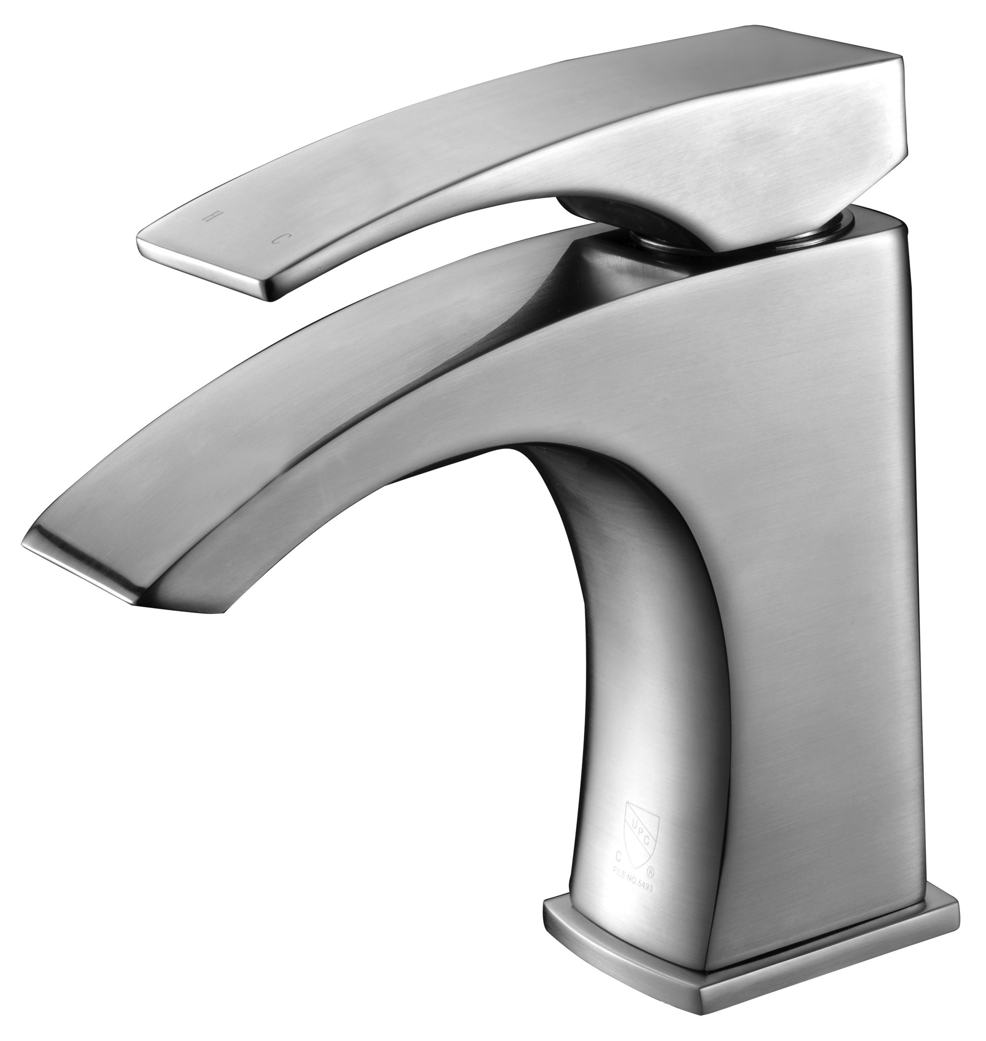 ALFI Brand AB1586 Brushed Nickel or Polished Chrome Single Lever Bathroom Faucet
