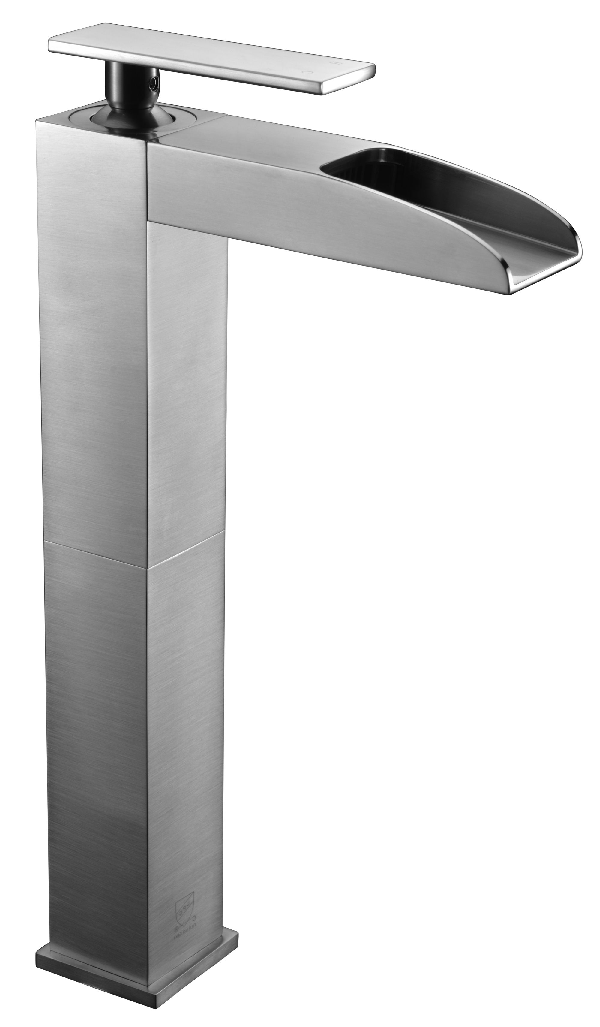 ALFI Brand AB1597 Brushed Nickel or Polished Chrome Single Hole Tall Waterfall Bathroom Faucet