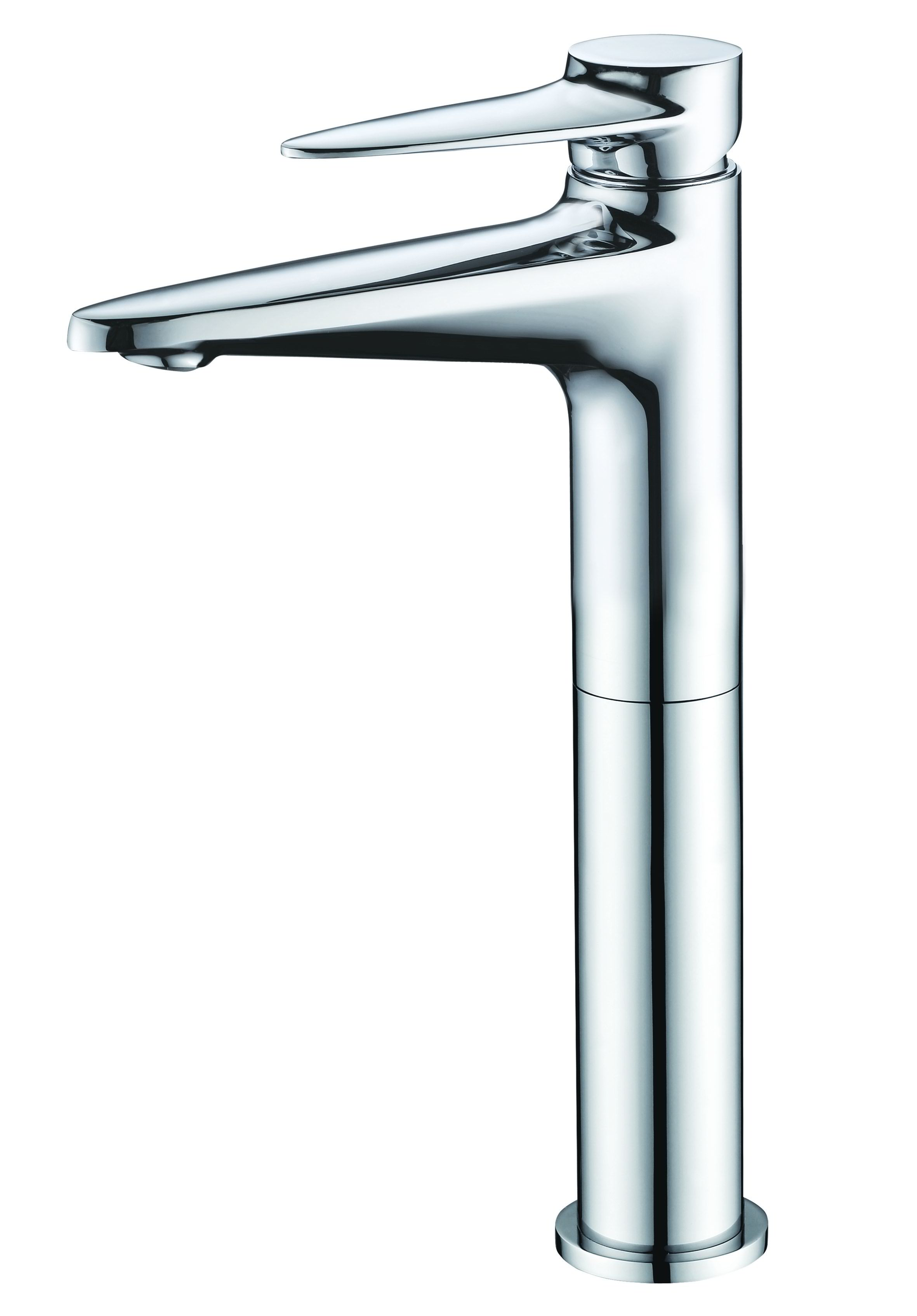 ALFI Brand AB1771 Brushed Nickel or Polished Chrome Tall Single Hole Bathroom Faucet