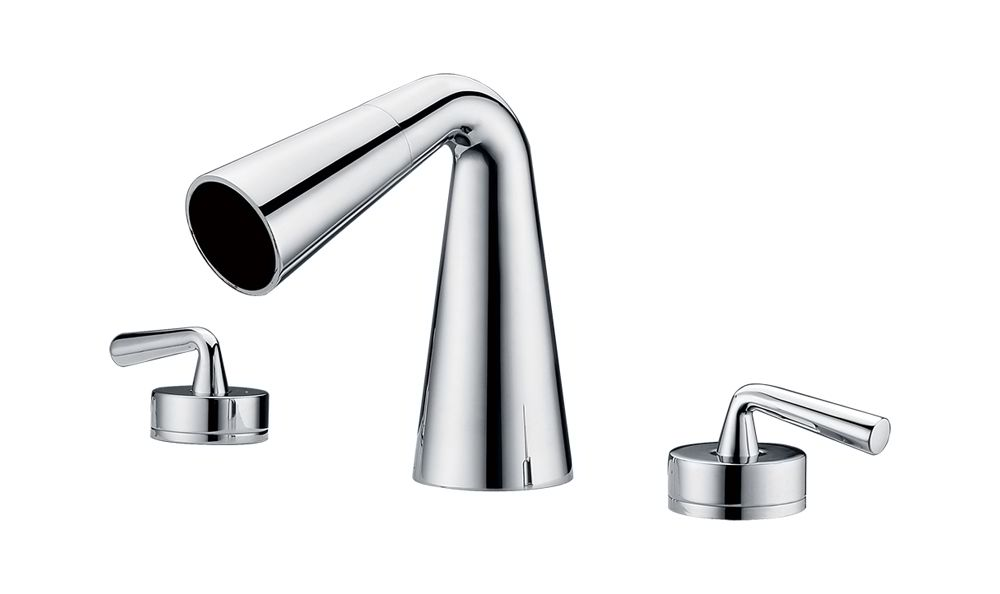ALFI Brand AB1790 Brushed Nickel or Polished Chrome Widespread Cone Waterfall Bathroom Faucet