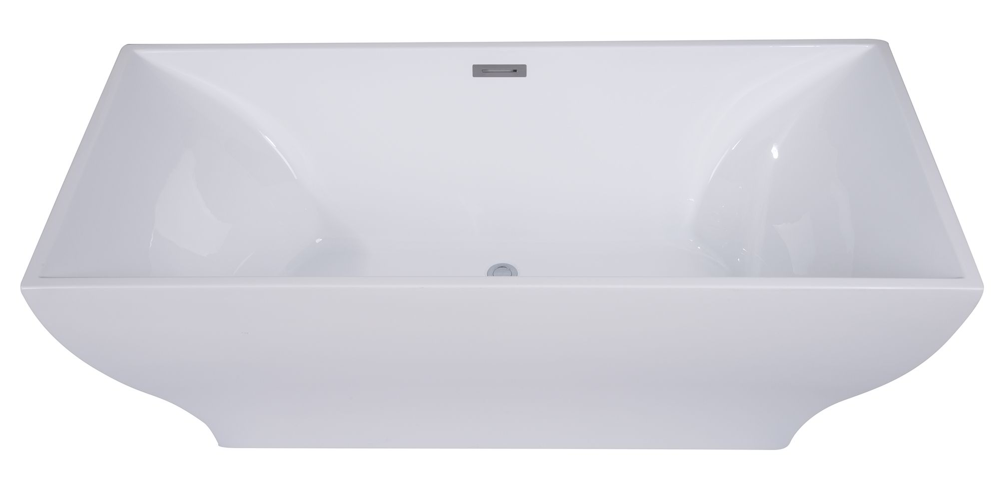 "ALFI Brand AB8840 67"" White Rectangular Acrylic Free Standing Soaking Bathtub"