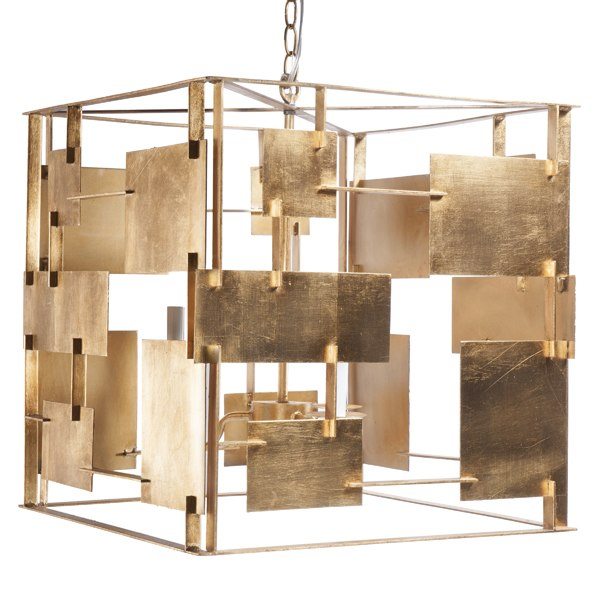 Abstract Square Chandelier with 2 Color Option