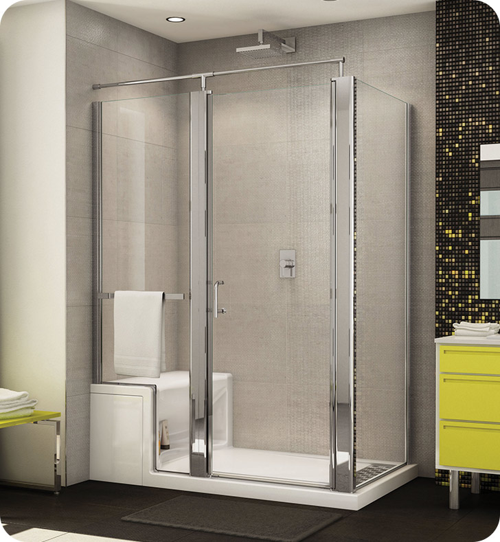 Fleurco Banyo Sevilla In Line Door and Panel with Return Panel (Alessa Base and Seat Optional)