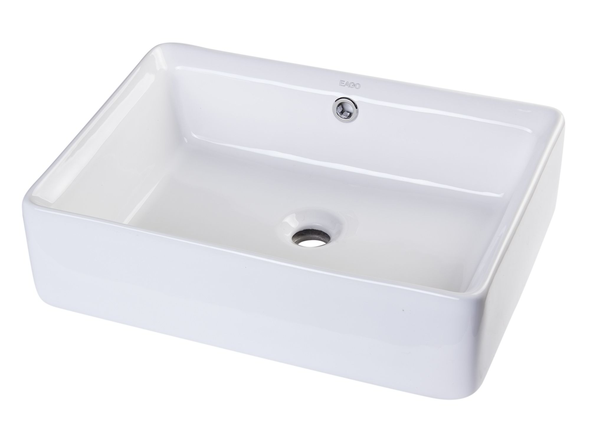 "EAGO BA131 20"" RECTANGULAR CERAMIC ABOVE MOUNT BASIN VESSEL SINK"