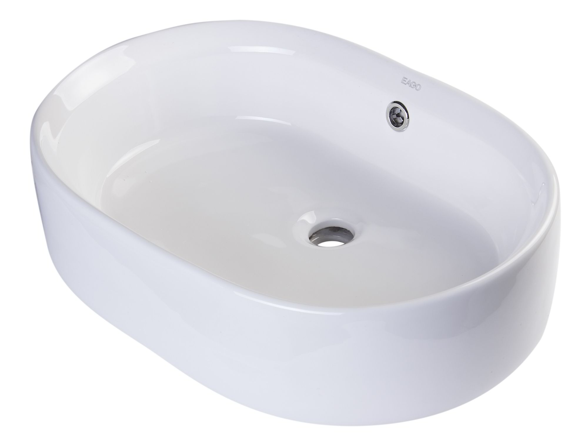 "EAGO BA132 22"" OVAL CERAMIC ABOVE MOUNT BASIN VESSEL SINK"